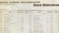 Бланк для заказов продукции ЮСТ 1936 г